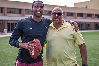 EJ Manuel - Manuel with his father, Eric, in 2013