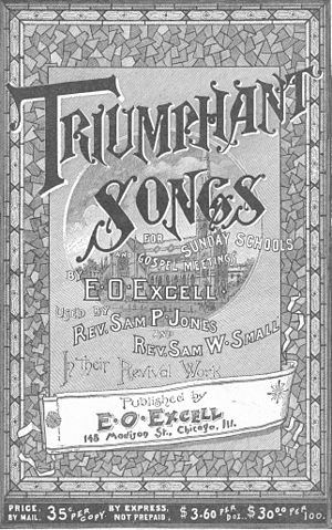 E. O. Excell - 1887 Hymnbook Title Page