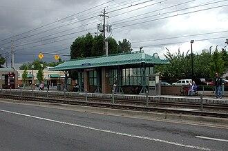 East 102nd Avenue station - West platform of the East 102nd Avenue station