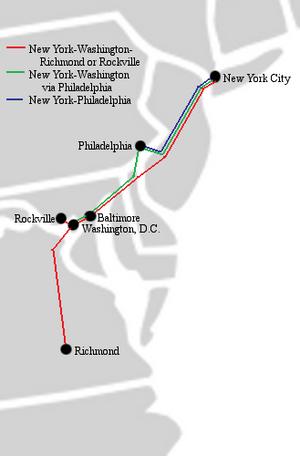 Eastern Shuttle (bus company) - Eastern Shuttle route network.