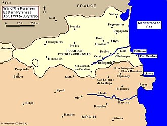 War of the Pyrenees - War of the Pyrenees, Eastern Theater