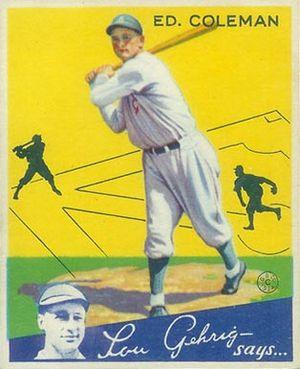 Ed Coleman (baseball) - Ed Coleman 1934 Goudey card