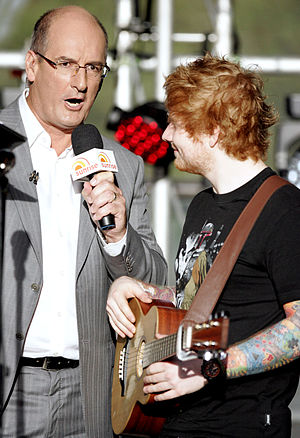 David Koch (television presenter) - Koch interviewing singer Ed Sheeran