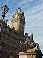 Edinburgh Wellington Monument and Balmoral.JPG