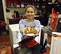 Edison NJ The Coffee House hostess serves pastry.JPG