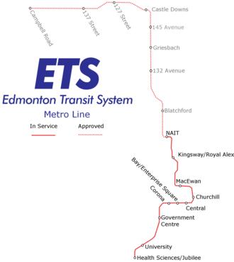 Metro Line - Image: Edmonton Metro Line