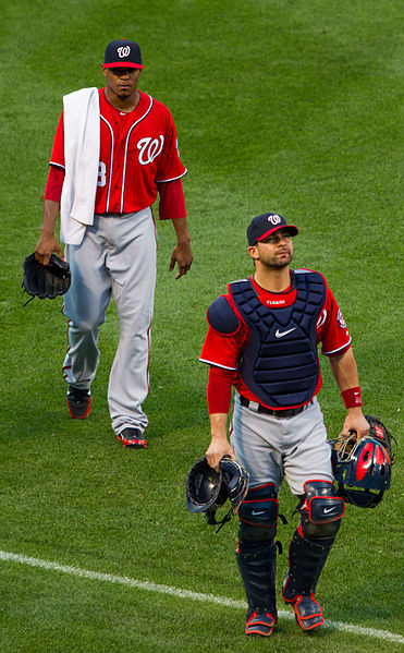 File:Edwin Jackson and Jesús Flores on June 23, 2012.jpg