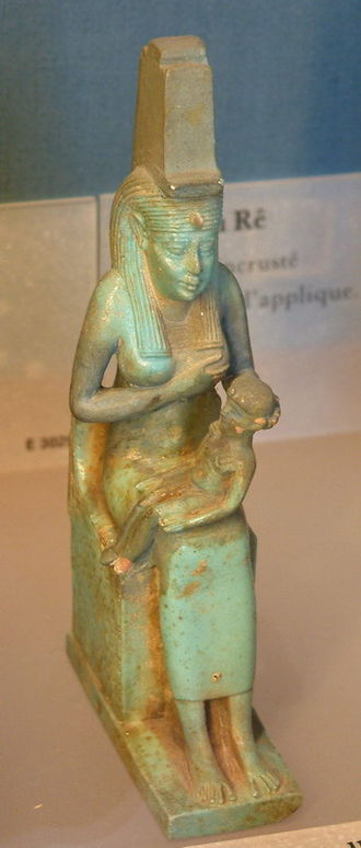 Qift - Isis nursing her infant son – Louvre