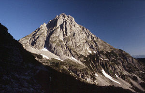 Mieming Range - The Ehrwalder Sonnenspitze (2412 m) from the Coburger Hut