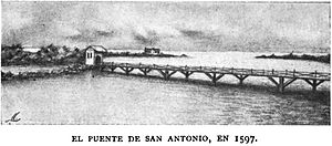 Long, low bridge