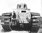 Elektronische reproductie van foto van prototype SRA-tank