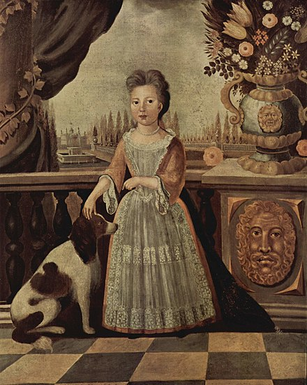 Carroll's mother Eleanor Darnall Carroll as a child, painted by Justus Engelhardt Kühn c1710