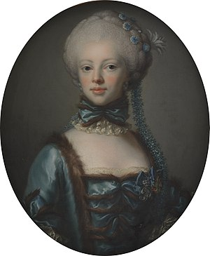 Danish nobility - Lensgrevinde Scheel, née Eleonore komtesse Raben, a member of the high nobility.