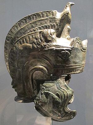 """Attic helmet - Roman """"pseudo-Attic"""" helmet, 2nd century AD"""