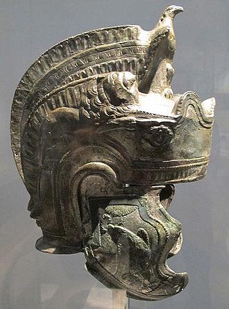 """Attic helmet - Roman """"pseudo-Attic"""" helmet, 2nd century AD."""