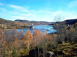 Bøkfjorden - The Pasvikelva river emptying into the Bøkfjorden