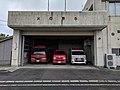 Emergency vehicles at fire station on Yakushima.jpg