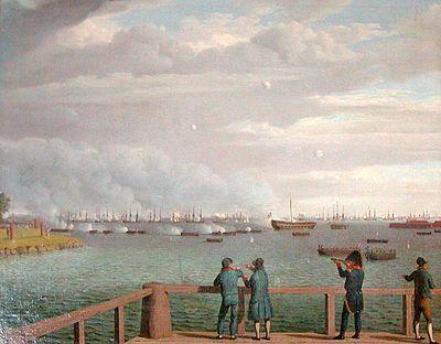 Engelska flottan beskjuter Köpenhamn 1807