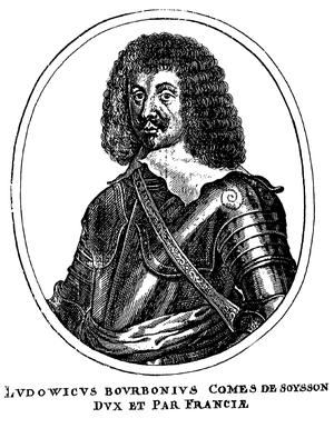 Louis, Count of Soissons - Engraving by Matthäus Merian
