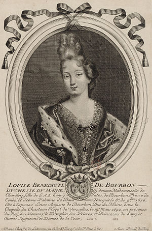 Louise Bénédicte de Bourbon - Louise Bénédicte in the year of her marriage