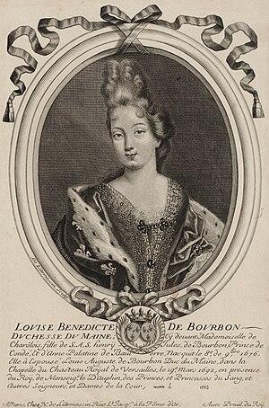 Louise Bénédicte de Bourbon - Louise Bénédicte in the year of her marriage
