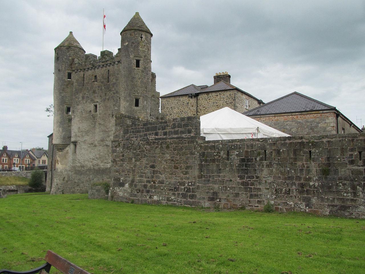 Enniskillen castle on a cloudy day