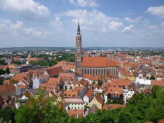 Landshut Place in Bavaria, Germany