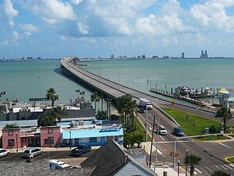 South Padre Island, Texas - Image: Entrance to South Padre Island
