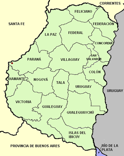 Entre ríos province (Argentina), departments and capital with names.png
