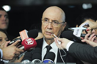 2014 Brazilian economic crisis - Henrique Meirelles, the Minister of Finance from May 2016 to April 2018.