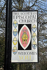 Schild der Scottish Episcopal Church