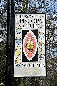 Schild der Scottish Episcopal Church
