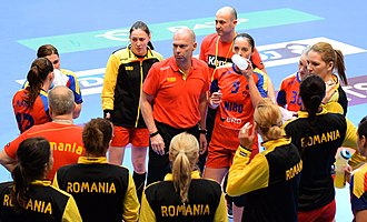 Romania women's national handball team - The team in 2015, under Tomas Ryde.