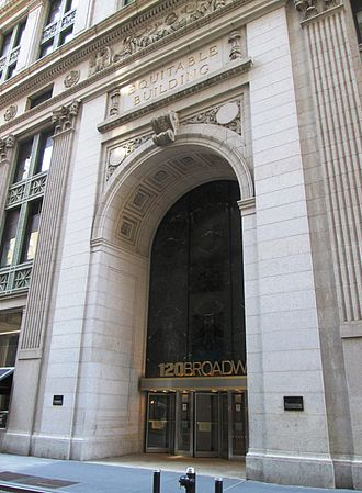 Equitable Building (Manhattan) - Entrance to the building