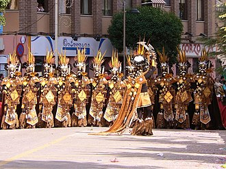 Fiestas of National Tourist Interest of Spain - Zulu special squad of the comparsa of Moros Nuevos in the Entry of 2007 of the Moros y Cristianos of Villena.