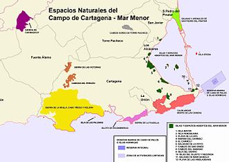 Campo de Cartagena - Natural protected zones in Campo de Cartagena