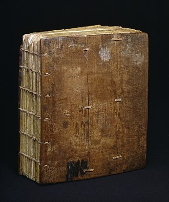 Gunda Gunde - Gunda Gunde Gospels, parchment bound between wooden boards covered with remains of leather, c.1540, (Stephanites), Walters Art Museum