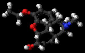 Ethylmorphine - Image: Ethylmorphine molecule ball