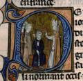 """Eudes, fils de """"Robert Ier le Fort"""" et comte de Paris, fut couronné roi de France en 888 à Saint-Corneille de Compiègne par Gauthier, archevêque de Sens.png"""