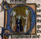 """Eudes, sønn av """"Robert I den sterke"""" og grev av Paris, ble kronet til konge av Frankrike i 888 i Saint-Corneille de Compiègne av Gauthier, erkebiskop av Sens.png"""