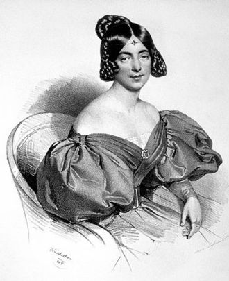 Linda di Chamounix - Eugenia Tadolini, the first singer of the title role, portrait by Josef Kriehuber
