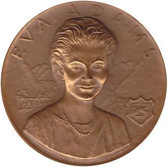 Eva Adams - Mint medal of Mint Director Eva Adams