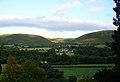 Evening sunlight on hills behind Llandinam - geograph.org.uk - 413003.jpg
