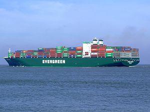 Ever Unific p6, leaving Port of Rotterdam, Holland 08-Apr-2007.jpg
