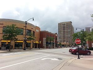 Arlington Heights, Illinois - Evergreen Avenue in Downtown Arlington Heights