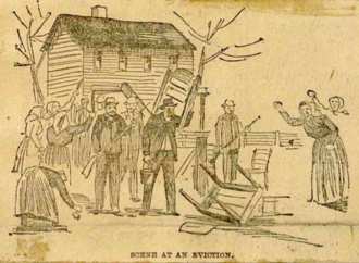 Morewood massacre - Miners and their families getting evicted from company housing during the strike.
