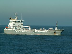 Evinco IMO 9308546 approaching Port of Rotterdam, Holland 29-Jan-2006.jpg