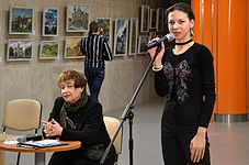 Exhibition Plein Air Snowy Summer National Library 22.01.2015 Lodmila Klochko.JPG