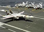 F-14A of VF-84 landing on USS Abraham Lincoln (CVN-72) 1990.JPEG
