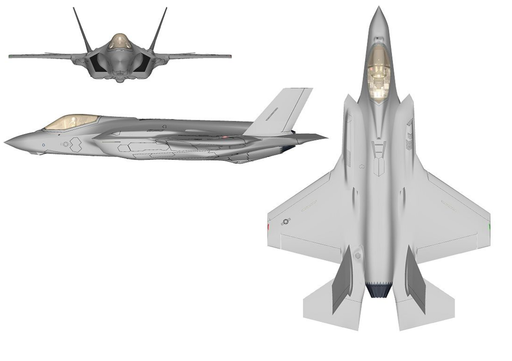 F-35A three-view